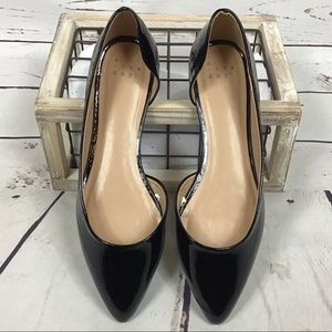 NWOT [A New Day] Faux Patent Leather Flats, Black